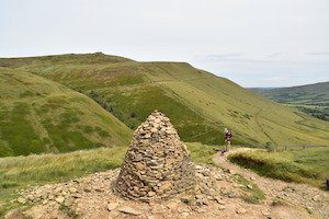 Cairn at Kidsty Pike on the very tough Pennine Way