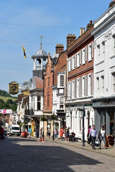 A busy Guildford High Street