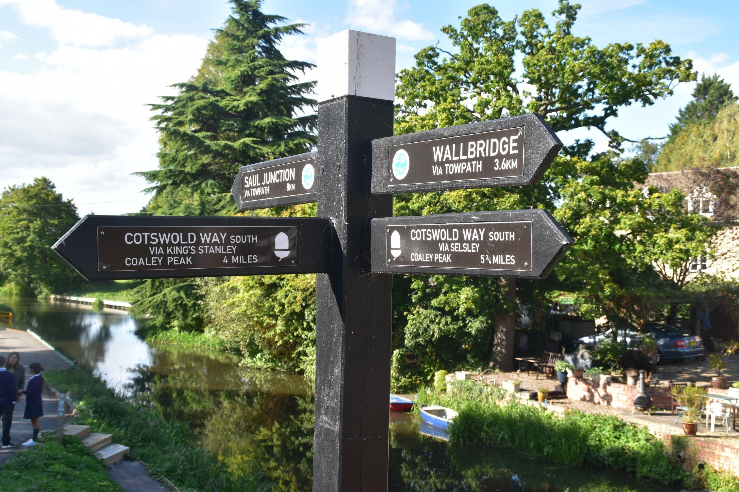 Cotswold Way signpost by Ebley Canal