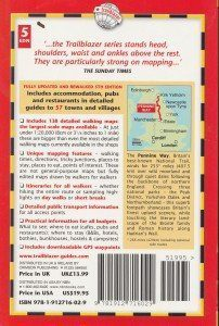 Pennine Way guide book, back cover