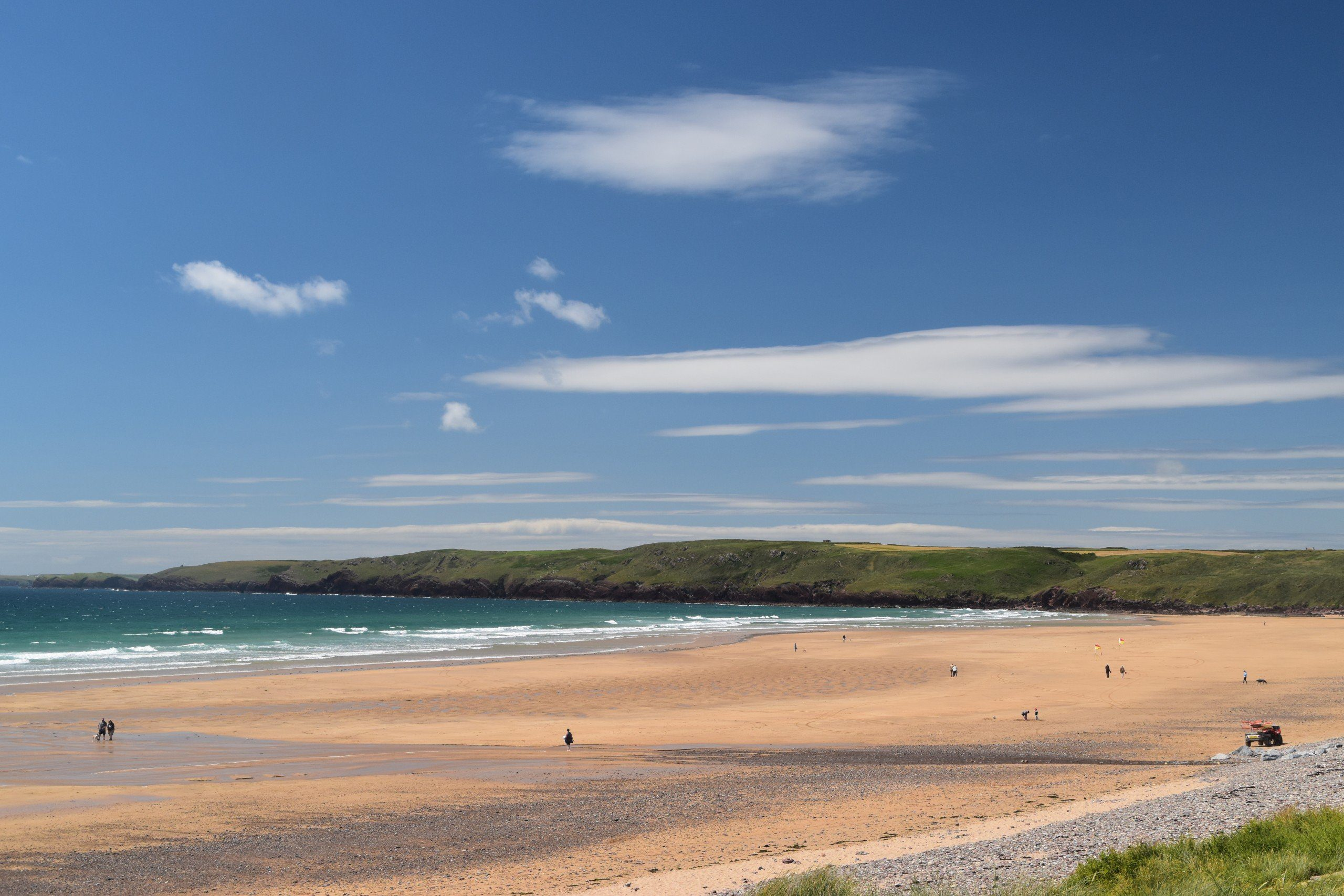 Large expanse of sand and sky at Freshwater West