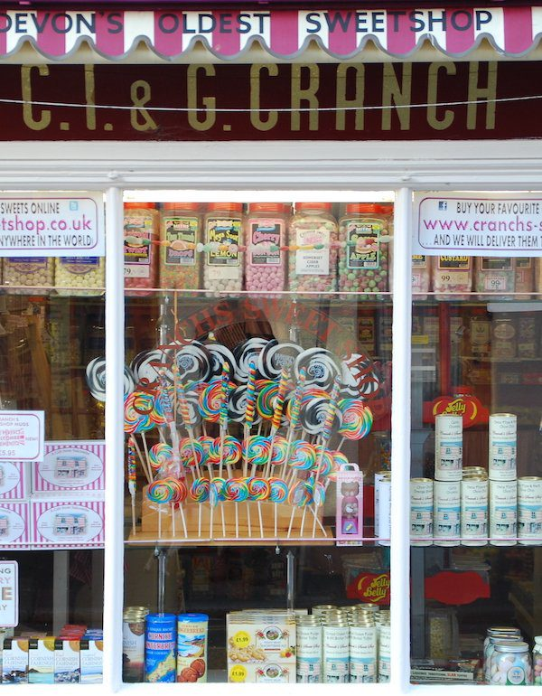 Budget trekkers would do well to avoid this lovely traditional sweetshop in Devon