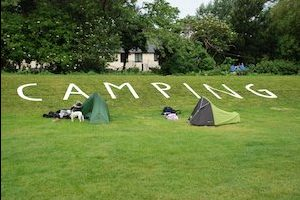 Campsite at Porlock on South-West Coast Path