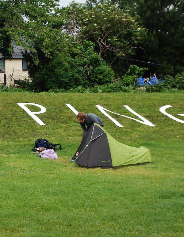Camping near Porlock in Exmoor on the South-West Coast Path