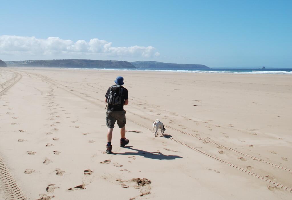 Sunny day to walk the Cornwall Coast Path