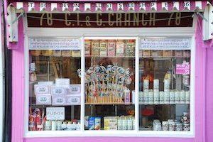 Devon's oldest sweet-shop, not good for those on a budget