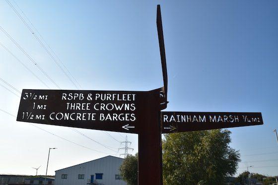 Metal signpost on the LOOP